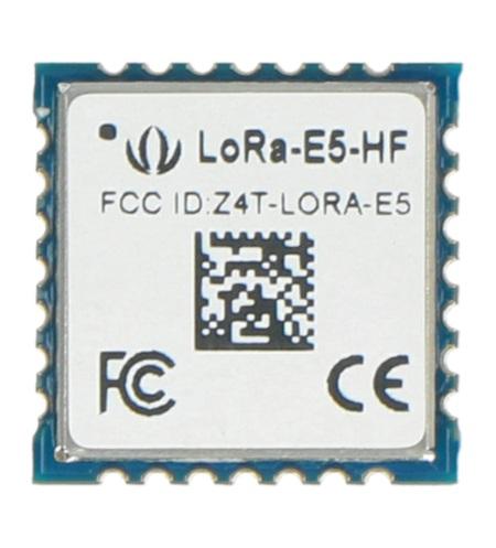 Moduł LoRa-E5 STM32WLE5JC - moduł LoRaWAN 868/915 MHz - wbudowany ARM Cortex-M4 i SX126x od Seeedstudio.