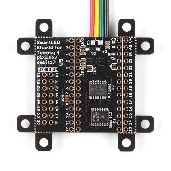 SmartLED Shield - sterownik do matryc LED kompatybilny z Teensy 4