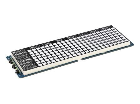 Nakładka do Raspberry Pi Pico w postaci modułu z cyfrowym zegarem.