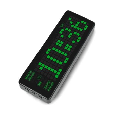 Pico-Clock-Green - moduł z cyfrowym zegarem elektronicznym LED.