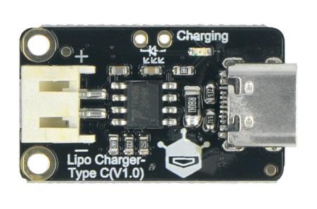 Lipo Charger - moduł ładujący do akumulatorów Li-Pol poprzez USB typu C.