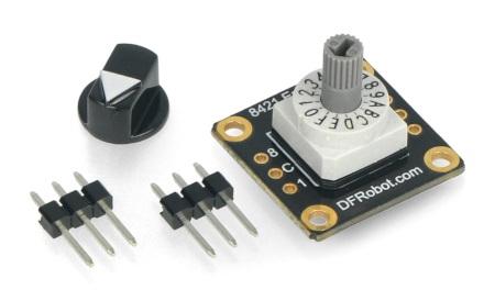 Zawartość zestawu z enkoderem od DFRobot.
