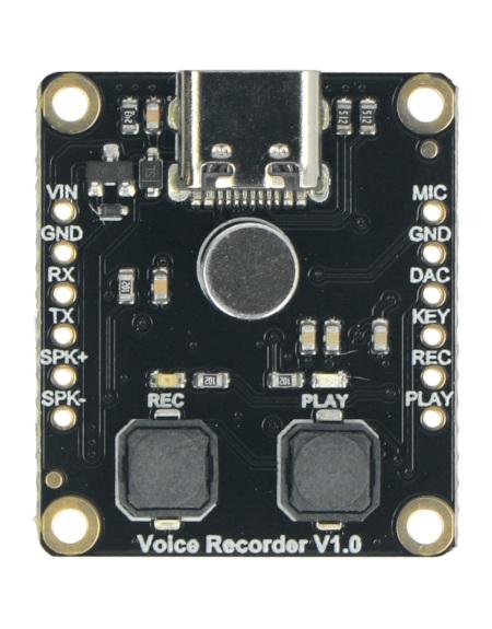 Moduł z rejestratoremgłosu wyprodukowany przez DFRobot.