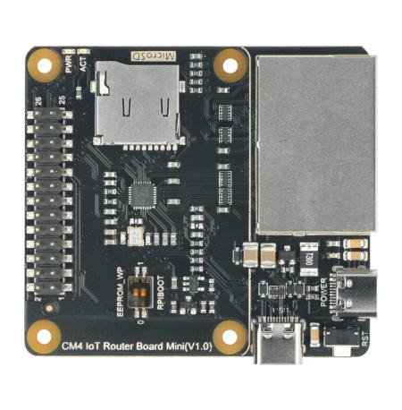 Płytka została wyposażona w dwa złącza USB typu C.