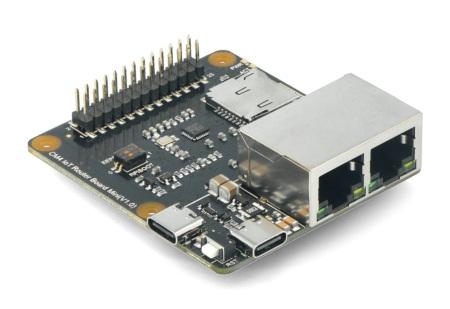 Router Carrier Board Mini - mini karta rozszerzeń IoT przeznaczona doużytku z Raspberry Pi Compute Module 4.