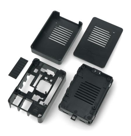 Obudowa do Raspberry Pi 4B - czarna - MaticBox 4