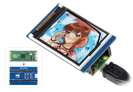 Przedmiotem sprzedaży jest jedynie wyświetlacz - Raspberry Pi Pico należy kupić osobno.