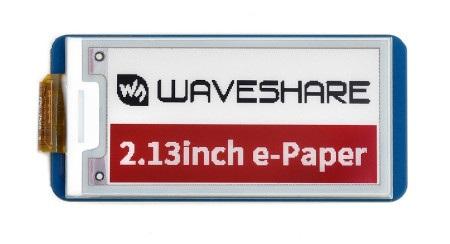 Wyświetlacz e-paper wykonany w technologii e-Inkod Waveshare.