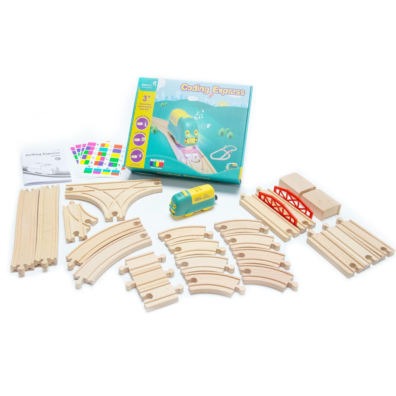 Zestaw zawiera 24 drewniane tory.