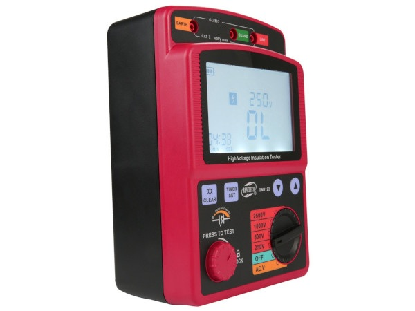 Miernik zasilany jest napięciem 12 V (8x bateria 1,5 V LR14).
