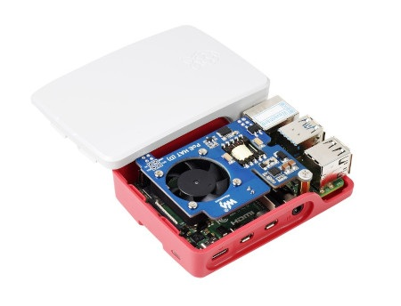 Przedmiotem sprzedaży jest nakładka Power over Ethernet HAT (D) - kompatybilna z oficjalną obudową. MinikomputerRaspberry Pioraz obudowę należy nabyć osobno.