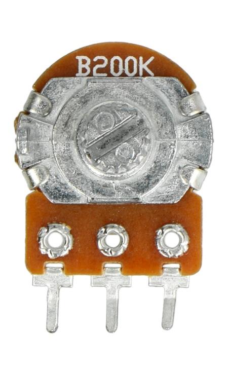 Potencjometr obrotowy 200kOhm liniowy 1/5W B200k - 5szt.