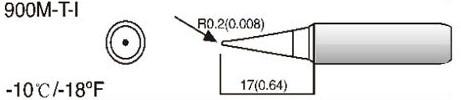Rysunek techniczny grotu T-I HQ