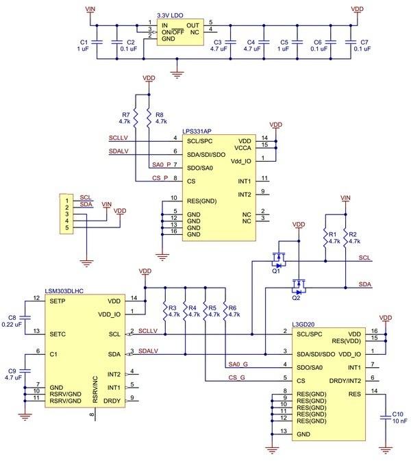 Schemat modułu Pololu