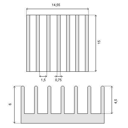 Radiator 15x14,5x6mm RAD07 - Raspberry Pi