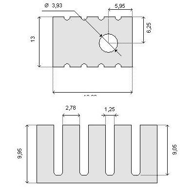 Radiator RAD10 19x13x10mm TO220