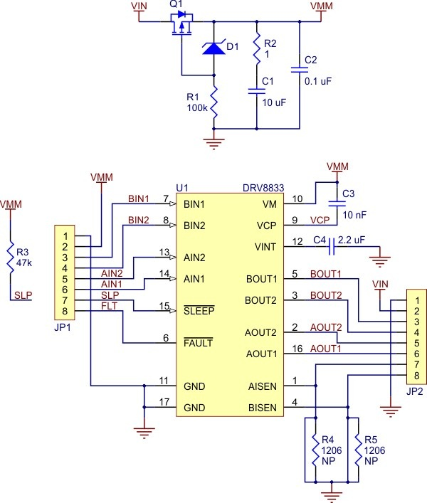 Schemat Pololu DRV8833